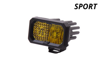 """Diode Dynamics Stage Series 2"""" LED Pod Sport Yellow Fog Standard Amber Backlight (Single)"""
