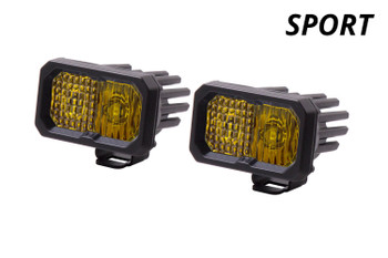 """Diode Dynamics Stage Series 2"""" LED Pod Sport Yellow Combo Standard Amber Backlight"""