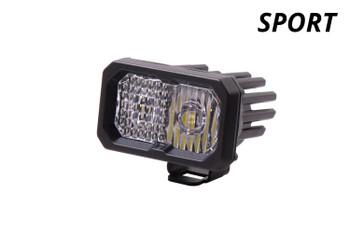 "Diode Dynamics Stage Series 2"" LED Pod Sport White Spot Standard Red Backlight (Single)"