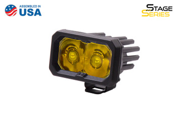 """Diode Dynamics Stage Series 2"""" LED Pod Sport Yellow Spot Standard Amber Backlight (Single)"""