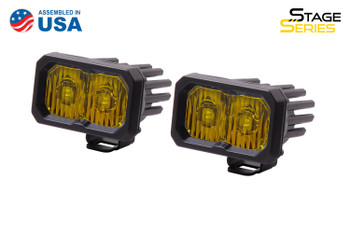 """Diode Dynamics Stage Series 2"""" LED Pod Pro Yellow Driving Standard Amber Backlight"""
