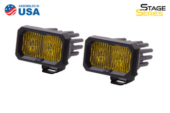 """Diode Dynamics Stage Series 2"""" LED Pod Pro Yellow Fog Standard Amber Backlight"""
