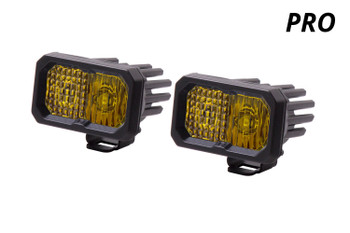 """Diode Dynamics Stage Series 2"""" LED Pod Pro Yellow Combo Standard Amber Backlight"""
