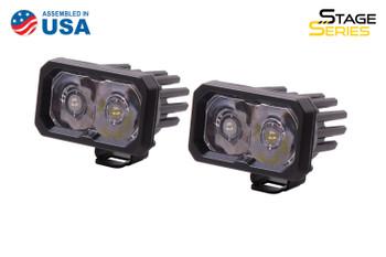 "Diode Dynamics Stage Series 2"" LED Pod Pro White Spot Standard Blue Backlight"