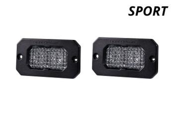 """Diode Dynamics Stage Series 2"""" LED Pod Sport White Flood Flush Amber Backlight"""