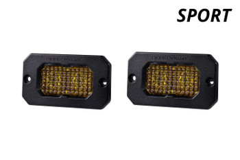 """Diode Dynamics Stage Series 2"""" LED Pod Sport Yellow Flood Flush Amber Backlight"""