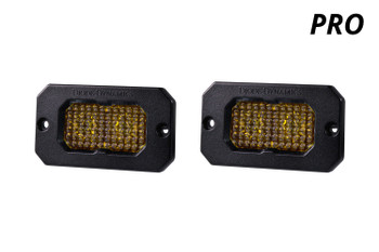 """Diode Dynamics Stage Series 2"""" LED Pod Pro Yellow Fog Flush Amber Backlight"""