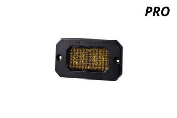 "Diode Dynamics Stage Series 2"" LED Pod Pro Yellow Fog Flush Amber Backlight (Single)"