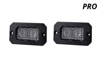 "Diode Dynamics Stage Series 2"" LED Pod Pro White Flood Flush Amber Backlight"