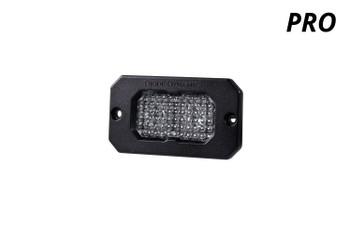 "Diode Dynamics Stage Series 2"" LED Pod Pro White Flood Flush Amber Backlight (Single)"