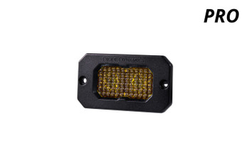 "Diode Dynamics Stage Series 2"" LED Pod Pro Yellow Flood Flush Amber Backlight (Single)"