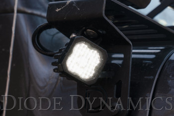 """Diode Dynamics Stage Series 1"""" LED Pod Sport White Wide Standard Red Backlight (Single)"""