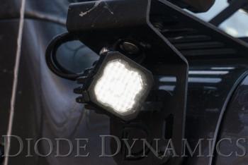 "Diode Dynamics Stage Series 1"" LED Pod Pro White Flood Standard Amber Backlight (Single)"