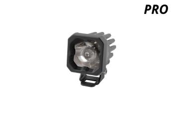 "Diode Dynamics Stage Series 1"" LED Pod Pro White Spot Standard Amber Backlight (Single)"