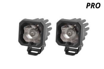 "Diode Dynamics Stage Series 1"" LED Pod Pro White Spot Standard Blue Backlight"