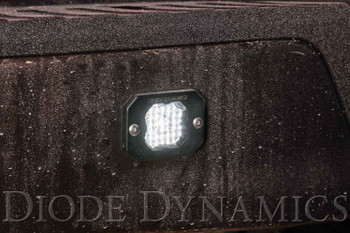 "Diode Dynamics Stage Series 1"" LED Pod Sport White Flood Flush Amber Backlight (Single)"