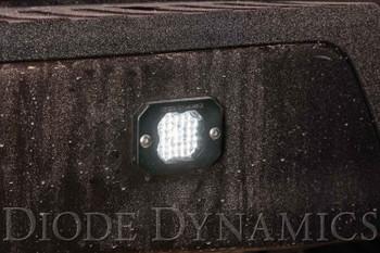 "Diode Dynamics Stage Series 1"" LED Pod Sport White Flood Flush Red Backlight"