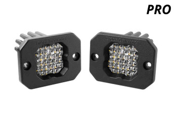 """Diode Dynamics Stage Series 1"""" LED Pod Pro White Flood Flush White Backlight"""