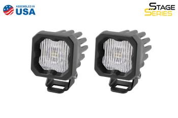 """Diode Dynamics Stage Series 1"""" LED Pod White SAE/DOT Fog Standard Amber Backlight"""