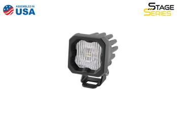 "Diode Dynamics Stage Series 1"" LED Pod White SAE/DOT Fog Standard Amber Backlight (Single)"