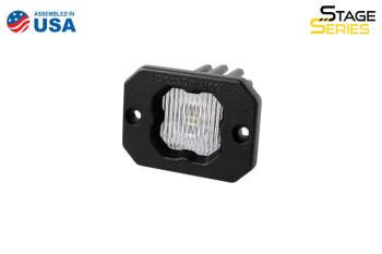 """Diode Dynamics Stage Series 1"""" LED Pod White SAE/DOT Fog Flush Amber Backlight (Single)"""
