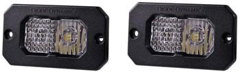 "Diode Dynamics Stage Series 2"" LED Pod Pro White Combo Flush Amber Back Light"
