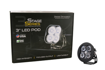 """Diode Dynamics Stage Series 3"""" Max White Driving Round (Single)"""