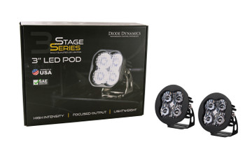 """Diode Dynamics Stage Series 3"""" Max White Driving Round (Pair)"""