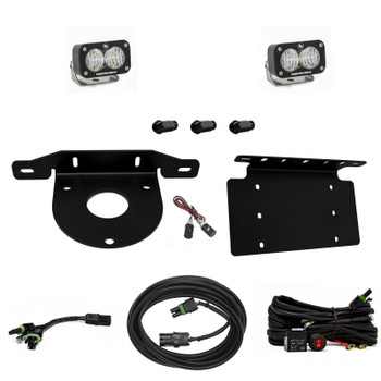Baja Designs Reverse Kit for 2021+ Ford Bronco (Dual S2 Sport w/Toggle Switch & License Plate Mount)