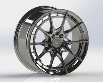 VR Forged D03-R Wheel Hyper Black 20x9.5 +37mm 5x112