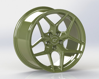 VR Forged D04 Wheel Army Green 18x9.5 +40mm 5x114.3