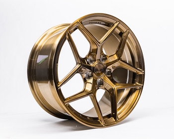 VR Forged D04 Wheel Gloss Gold 18x9.5 +40mm 5x114.3