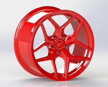 VR Forged D04 Wheel Gloss Red 18x9.5 +40mm 5x114.3