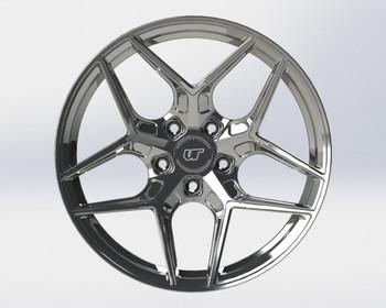 VR Forged D04 Wheel Hyper Black 21x12 +35mm 5x112