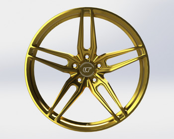VR Forged D10 Wheel Gloss Gold 18x9.5 +40mm 5x114.3