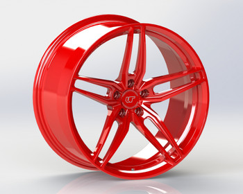 VR Forged D10 Wheel Gloss Red 20x11 +43mm 5x112