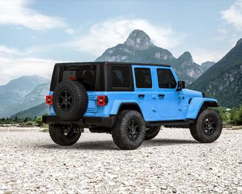 VR Forged D14 Wheel Package Jeep Wrangler JK JL | Gladiator 17x8.5 Matte Black