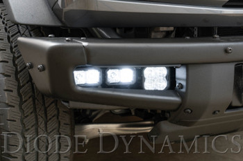 Diode Dynamics Stage Series Fog Pocket Kit for 2021 Ford Bronco, Yellow Pro