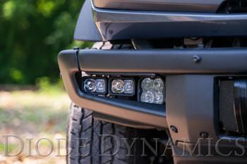 Diode Dynamics Stage Series Fog Pocket Kit for 2021 Ford Bronco, White Sport