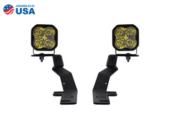 Diode Dynamics SS3 LED Ditch Light Kit for 15-20 Ford F-150/Raptor Sport Yellow Driving