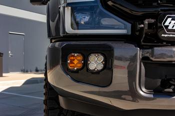 Baja Designs Dual Fog Pocket Kit for 2020+ Ford Super Duty (SAE Amber & Pro White w/Upfitter)