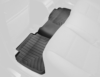 WeatherTech Custom Fit Rear FloorLiner for Ford F-150 (Black)