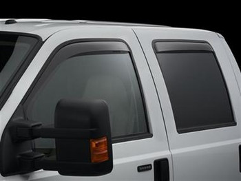 WeatherTech Ford 2015-2020 F-150 Side Window Deflectors - In-Window-Channel (Dark)