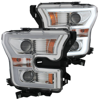 2015-2017 Ford F-150 Anzo LED Outline Projection Headlights (Chrome Housings)