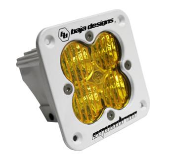 Baja Designs Squadron Pro, Flush Mount, White, LED Wide Cornering, Amber