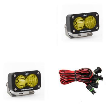 Baja Designs S2 Sport, Pair LED Driving/Combo, Amber