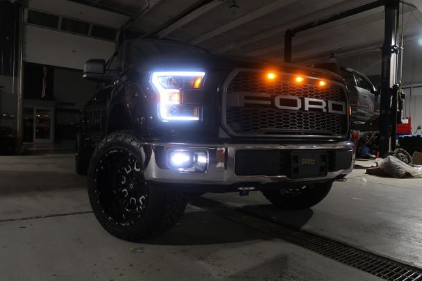 Crystalux Led Projector Fog Lights For 2015 Ford F150