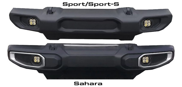 Baja Designs Jeep JL (Sahara), Squadron-R Sport, Fog Pocket Kit