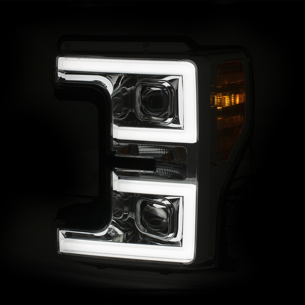 2017+ Ford F-250/F-350/F-450 Anzo Switchback Outline Projection Headlights (Chrome Housings)