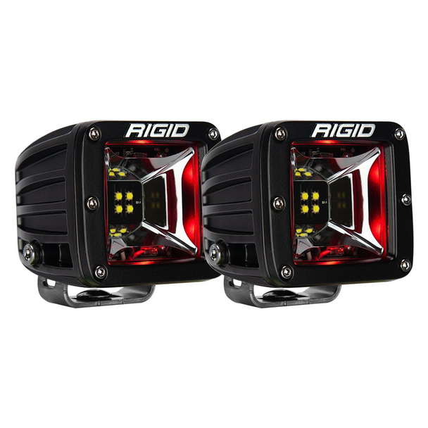 Rigid Industries Radiance Scene Lights, Surface Mount Pair (Red Backlight)